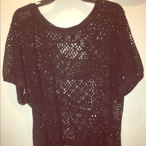 Black lacy shirt